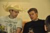Warming Up in der Hotelbar - Hannes und Johannes
